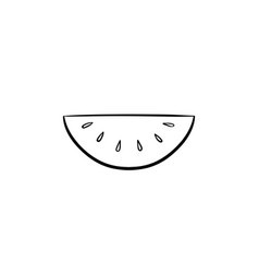 watermelon hand drawn sketch icon vector image