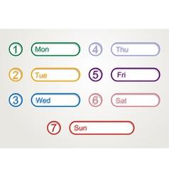 week planner vector image