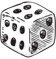 white dice with black dots vector image