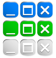 window control buttons vector image