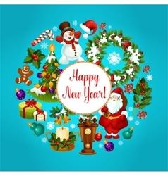Winter holidays celebration poster design vector
