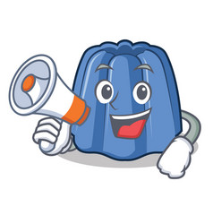with megaphone jelly character cartoon style vector image vector image