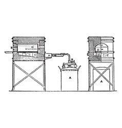 automatic oil muffle furnace vintage vector image vector image