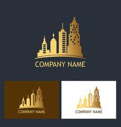 building cityscape metro logo vector image