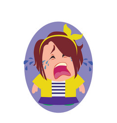 Crying unhappy and devastated avatar of little vector