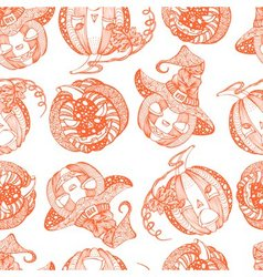 Decorative seamless monochrome pattern with vector image