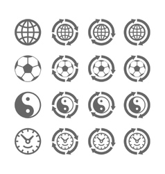 Four symbols of eternal moving vector image