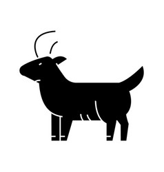 goat icon sign on isolate vector image