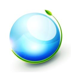 Green sphere concept vector
