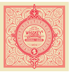 vintage label design for whiskey and wine label vector image vector image