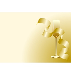 abstract toast with champagne vector image