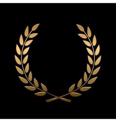 gold award laurel wreath vector image vector image