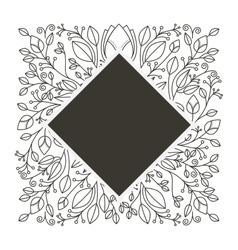 Silhouette diamond decorative ornament floral vector