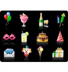 birthday black background vector image vector image