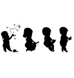 Evolution man and technology silhouettes vector