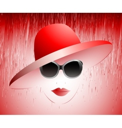 girl in a red hat vector image vector image