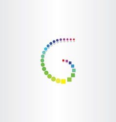 letter g with color circles and squares vector image vector image