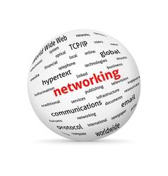Networking globe vector image