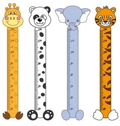 Children meter sticker wall vector image