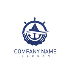 Marine concept logo vector