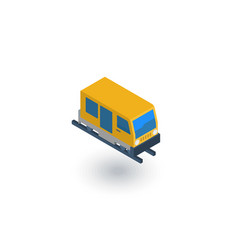 train tram rails transport isometric flat icon vector image