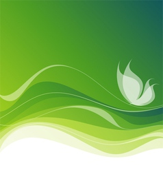 white butterfly on abstract green background ep vector image vector image