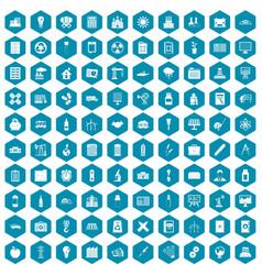 100 company icons sapphirine violet vector