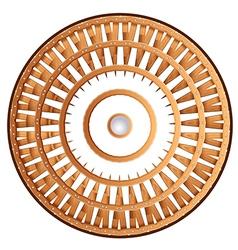 A shield wheel vector