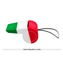 A Whistle of The Italian Republic or Italy vector image