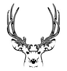 Abstract deer head tribal tattoo vector image vector image