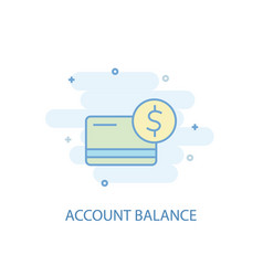 Account balance line concept simple line icon vector
