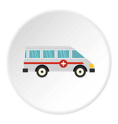 Ambulance car icon circle vector