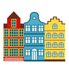 amsterdam house tourism travel design famous vector image vector image