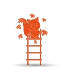 Animals fall design vector