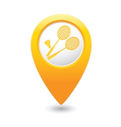 badminton MAP pointer yellow vector image