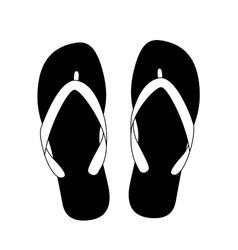 black flip flops vector image