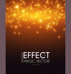 bokeh effect on transparent background shining vector image