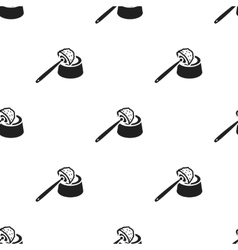 Brush for toilet black icon for web vector image vector image