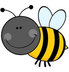 Bumble Bee Cartoon Character Flying vector image