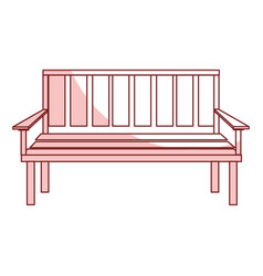 Chair park isolated icon vector