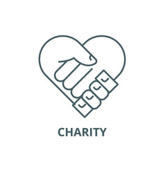 charitysupport head line icon charity vector image