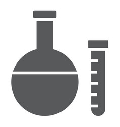 chemistry glyph icon school and education vector image