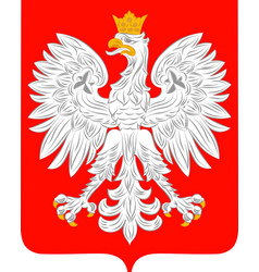 Coat of arms of poland vector