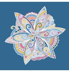 Colorful ornamental round flower vector image