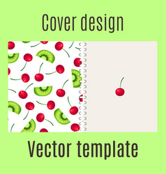 cover design with fruits pattern vector image