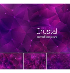Crystal abstract background vector