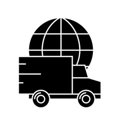 Delivery worldwide icon vector