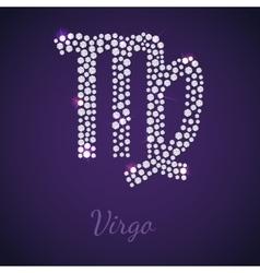 Diamond zodiac Virgo vector