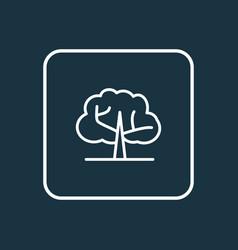 Elm tree icon line symbol premium quality vector