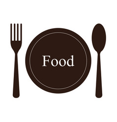 Flat icon and cutlery vector